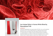Iron Isotope Ratios in Human Whole Blood by PlasmaQuant MS