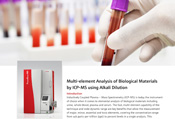 Multi-element Analysis of Biological Materials by ICP-MS using Alkali Dilution