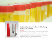 Analysis of Low Level Beryllium in Urine Using the PlasmaQuant® MS